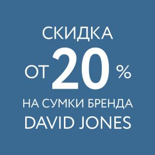 Скидка от 20% на сумки David Jones