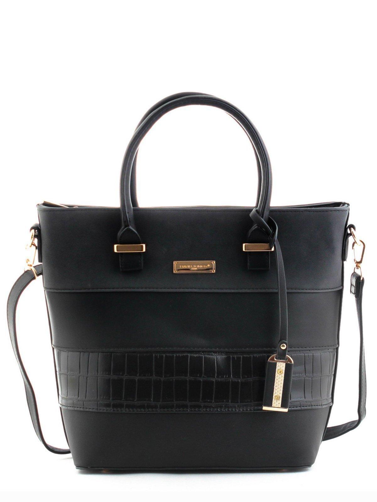 Чёрная сумка классическая David Jones. Вид 1.