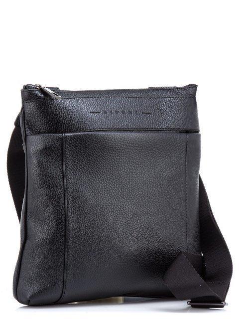 Чёрная сумка планшет Ripani (Рипани) - артикул: К0000033166 - ракурс 1