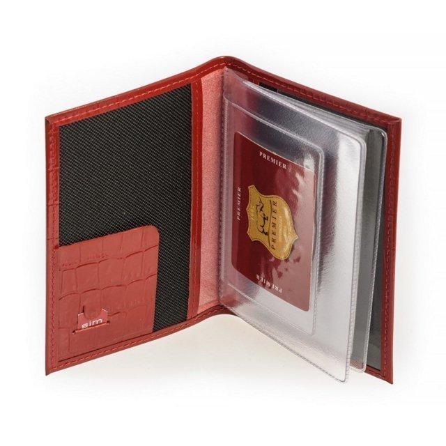 Красная обложка для документов S.Lavia (Славия) - артикул: К0000016356 - ракурс 1