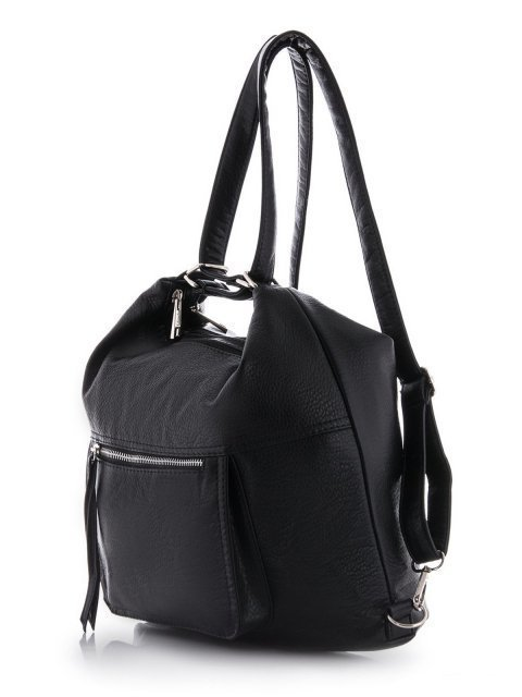 Чёрная сумка мешок S.Lavia (Славия) - артикул: 657 601 01 - ракурс 5