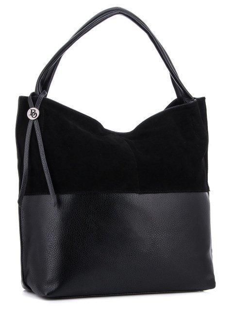 Чёрная сумка мешок Polina (Полина) - артикул: К0000034521 - ракурс 1