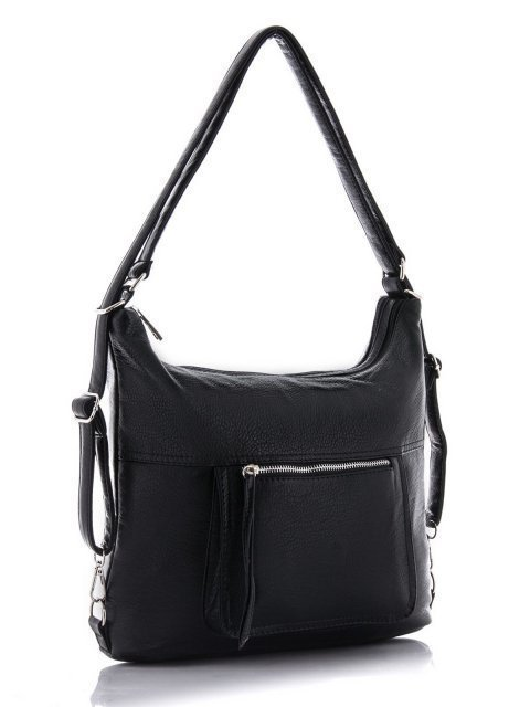 Чёрная сумка мешок S.Lavia (Славия) - артикул: 657 601 01 - ракурс 2