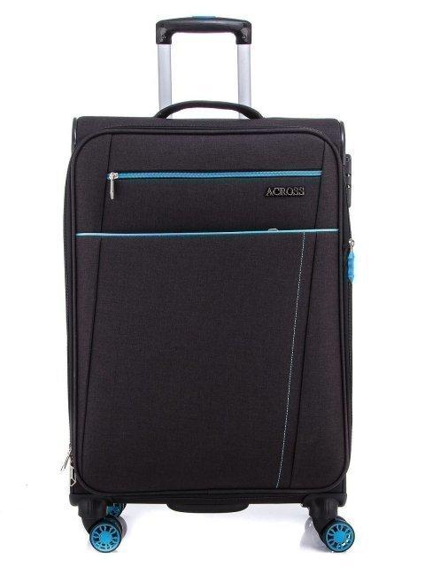Чёрный чемодан Across - 7299.00 руб