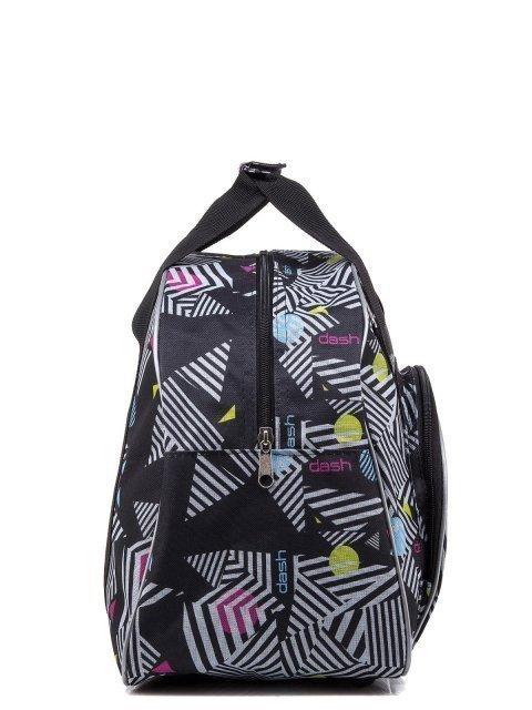 Чёрная дорожная сумка Lbags (Эльбэгс) - артикул: 0К-00004912 - ракурс 2