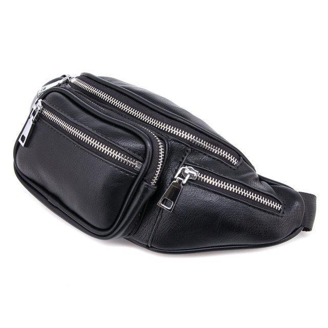 Чёрная сумка на пояс Domenica (Domenica) - артикул: 0К-00002086 - ракурс 2
