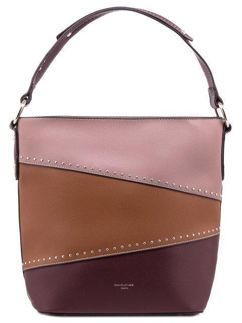 Бордовая сумка мешок David Jones - 880.00 руб