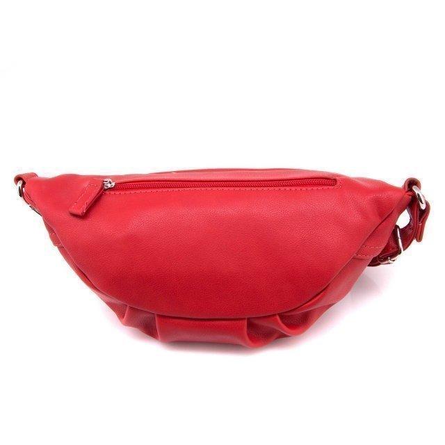 Красная сумка на пояс David Jones (Дэвид Джонс) - артикул: 0К-00002380 - ракурс 3