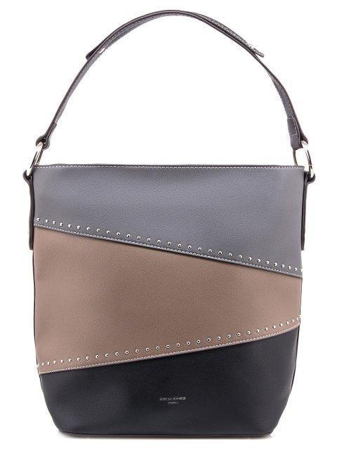 Чёрная сумка мешок David Jones - 880.00 руб