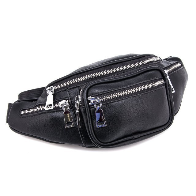 Чёрная сумка на пояс Domenica (Domenica) - артикул: 0К-00002086 - ракурс 1