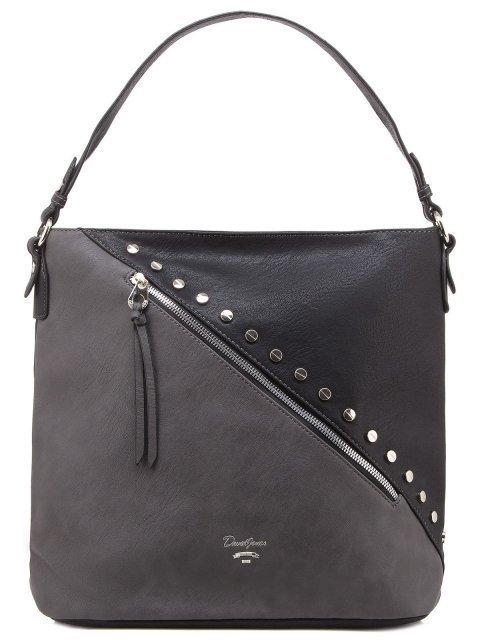 Чёрная сумка мешок David Jones - 1350.00 руб
