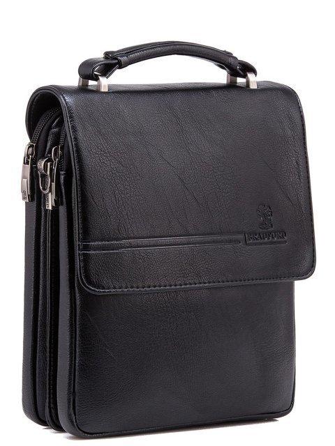Чёрная сумка планшет Bradford (Брэдфорд) - артикул: 0К-00005834 - ракурс 1