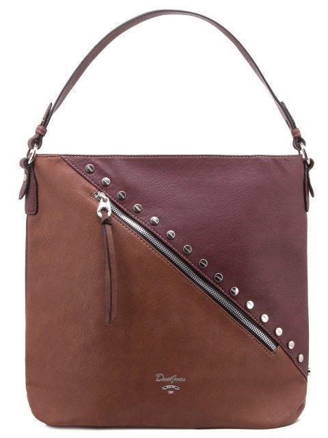 Бордовая сумка мешок David Jones - 1350.00 руб