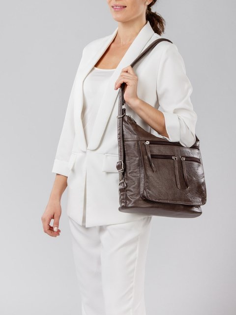 Коричневая сумка мешок S.Lavia (Славия) - артикул: 962 601 12 - ракурс 7