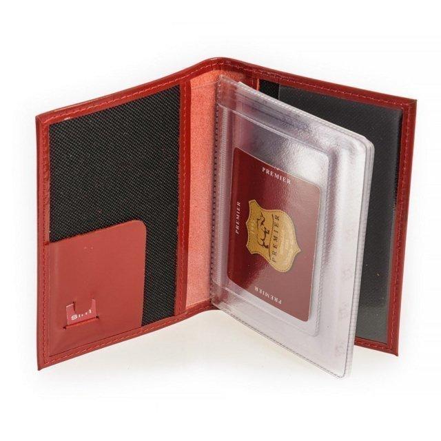 Красная обложка для документов S.Lavia (Славия) - артикул: К0000016357 - ракурс 1
