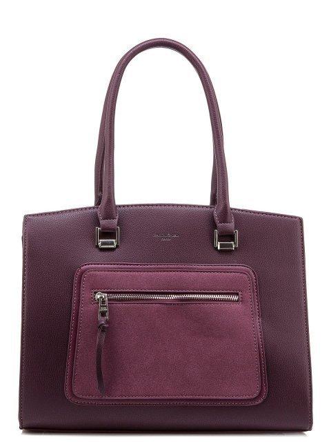 Бордовая сумка классическая David Jones - 1550.00 руб