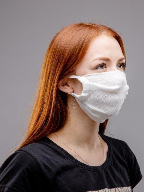 Белый маска марлевая S.Lavia (Славия) - артикул: М-003-10  - ракурс 3