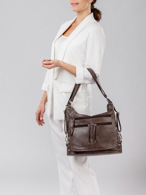 Коричневая сумка мешок S.Lavia (Славия) - артикул: 962 601 12 - ракурс 6