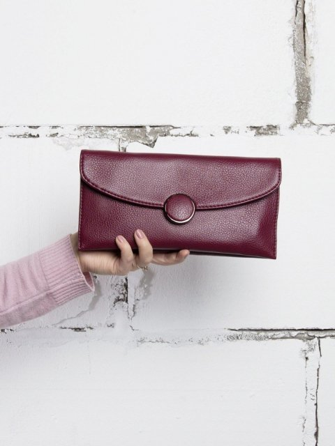 Бордовая сумка планшет Polina (Полина) - артикул: К0000021096 - ракурс 5