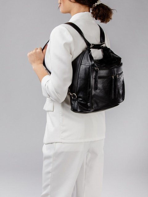 Чёрная сумка мешок S.Lavia (Славия) - артикул: 962 601 01 - ракурс 8