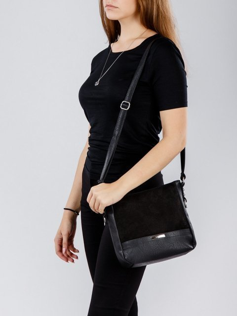 Чёрная сумка планшет S.Lavia (Славия) - артикул: 777 99 01 - ракурс 1