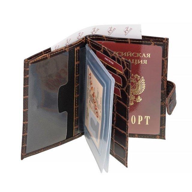 Коричневая обложка для документов S.Lavia (Славия) - артикул: К0000017192 - ракурс 1