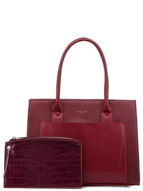 Бордовая сумка классическая David Jones - 1240.00 руб