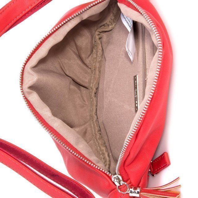 Красная сумка на пояс David Jones (Дэвид Джонс) - артикул: 0К-00002380 - ракурс 4
