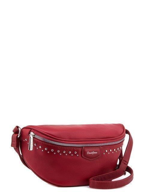 Красная сумка на пояс David Jones (Дэвид Джонс) - артикул: 0К-00005937 - ракурс 1