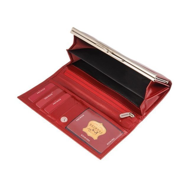 Красное портмоне S.Lavia (Славия) - артикул: К0000017198 - ракурс 1