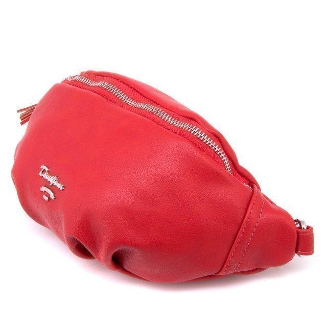 Красная сумка на пояс David Jones (Дэвид Джонс) - артикул: 0К-00002380 - ракурс 1