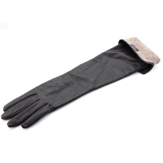 Чёрные перчатки Angelo Bianco (Анджело Бьянко) - артикул: К0000016505 - ракурс 2