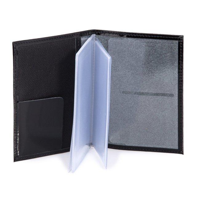 Чёрная обложка для документов S.Lavia (Славия) - артикул: К0000016361 - ракурс 2