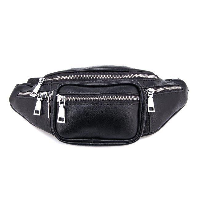 Чёрная сумка на пояс Domenica - 900.00 руб