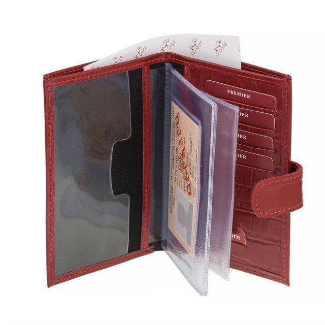 Красный бумажник S.Lavia (Славия) - артикул: Бумажник O-179 (красн.кро - ракурс 1