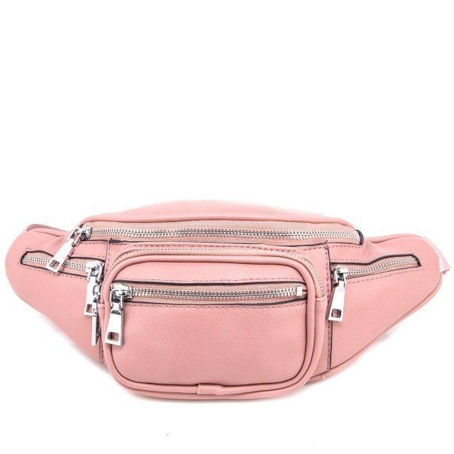 Розовая сумка на пояс Domenica - 900.00 руб
