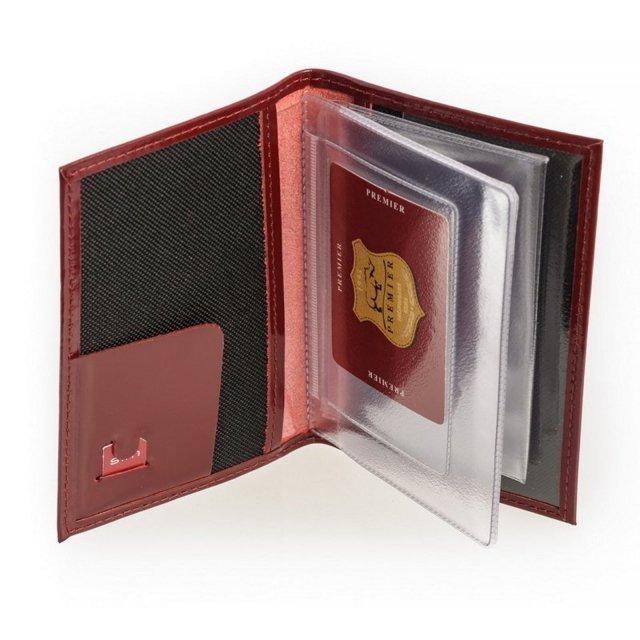 Красная обложка для документов S.Lavia (Славия) - артикул: К0000016637 - ракурс 1
