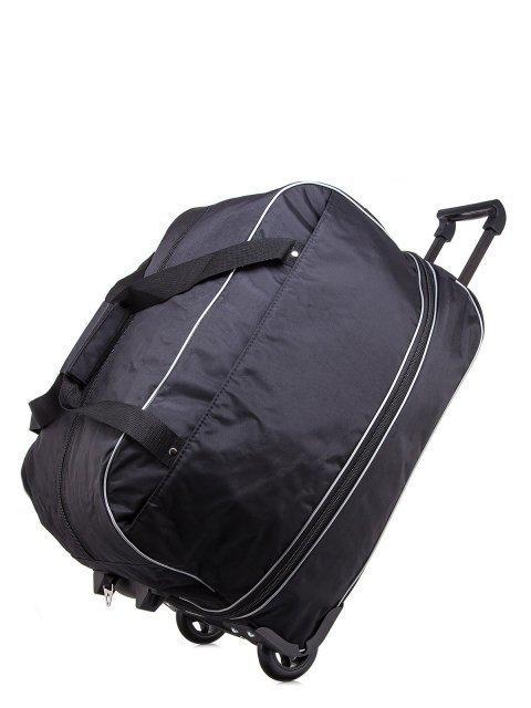 Чёрный чемодан Lbags (Эльбэгс) - артикул: К0000013257 - ракурс 4