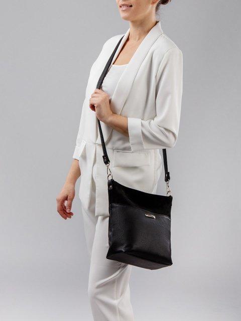 Чёрная сумка планшет S.Lavia (Славия) - артикул: 1071 99 01 - ракурс 2