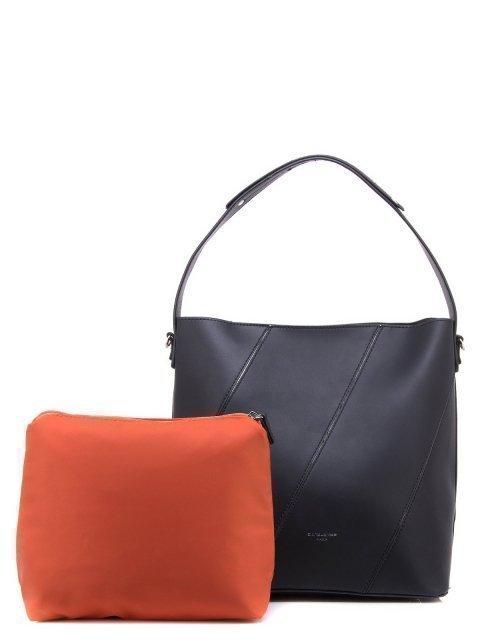 Чёрная сумка мешок David Jones - 1150.00 руб