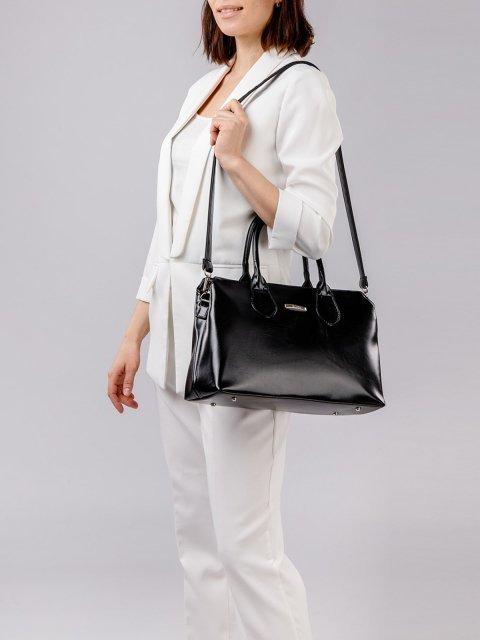 Чёрная сумка классическая S.Lavia (Славия) - артикул: 744 586 01 - ракурс 2