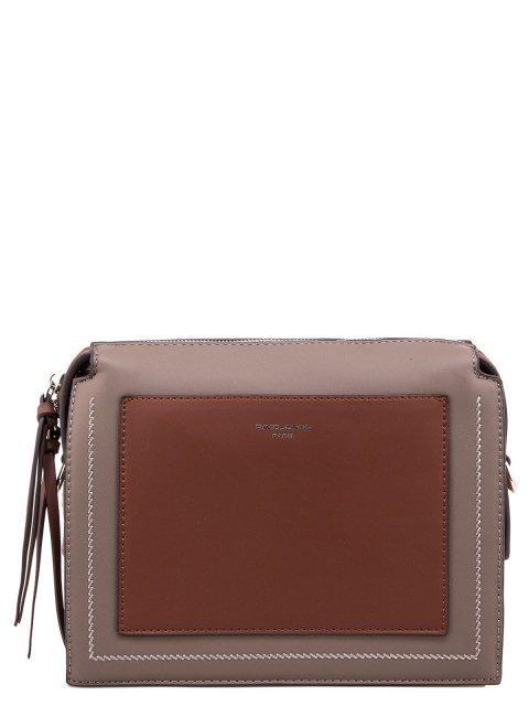 Коричневая сумка планшет David Jones - 1150.00 руб