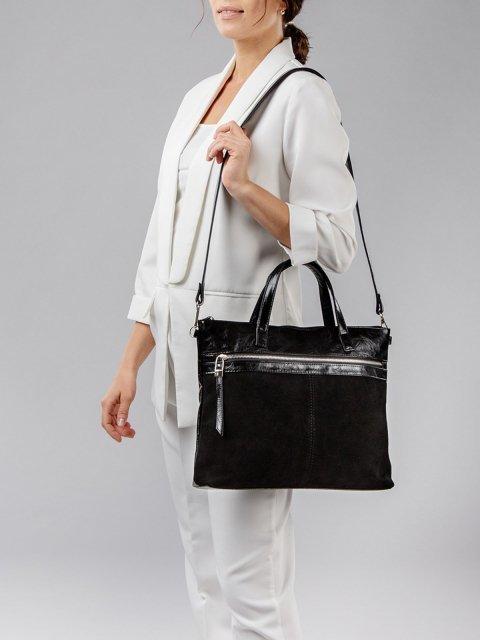 Чёрная сумка классическая S.Lavia (Славия) - артикул: 1035 99 01 - ракурс 2