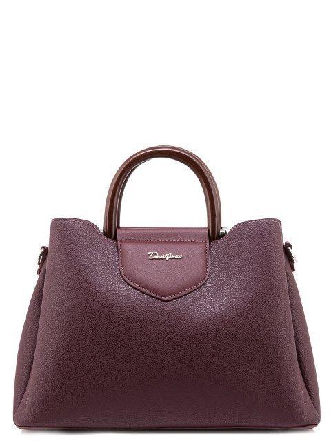 Бордовая сумка классическая David Jones - 1500.00 руб