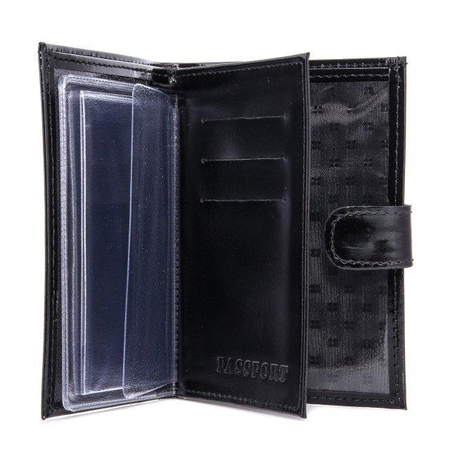Чёрная обложка для документов S.Lavia (Славия) - артикул: К0000016634 - ракурс 2