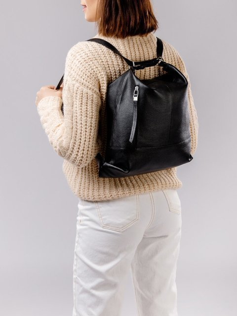 Чёрная сумка мешок S.Lavia (Славия) - артикул: 0041 13 01 - ракурс 3