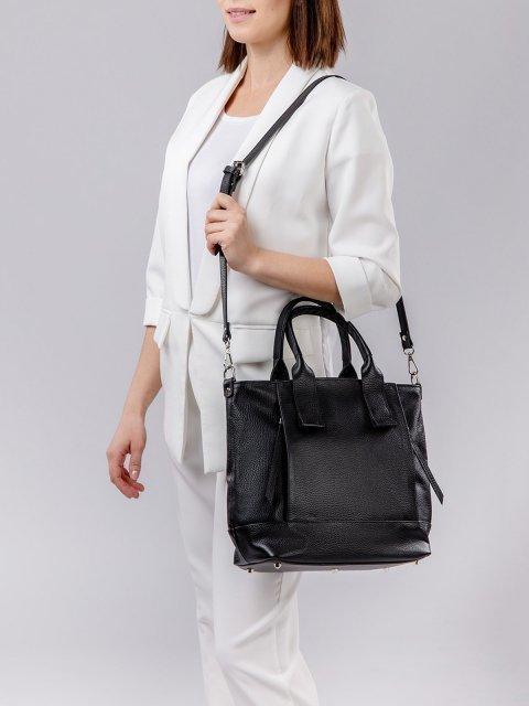 Чёрная сумка классическая S.Lavia (Славия) - артикул: 0050 12 01 - ракурс 2