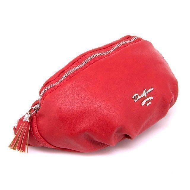 Красная сумка на пояс David Jones (Дэвид Джонс) - артикул: 0К-00002380 - ракурс 2