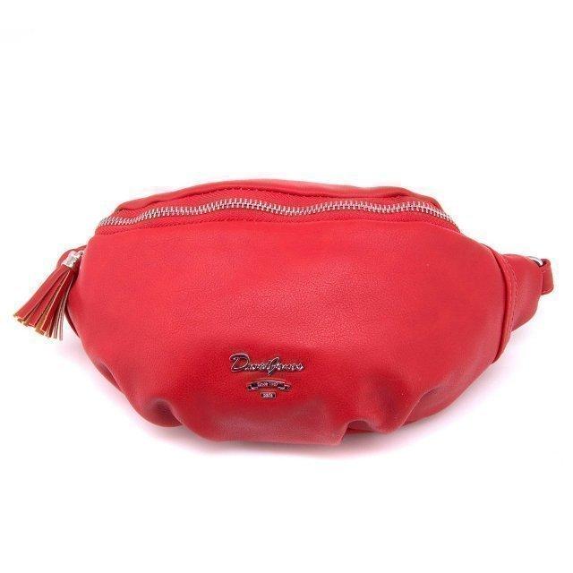 Красная сумка на пояс David Jones - 600.00 руб