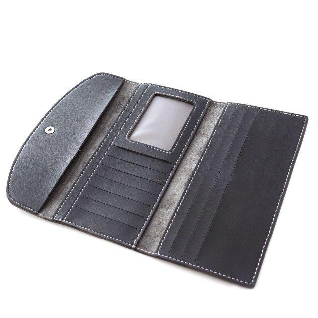 Чёрное портмоне Assorti (Ассорти) - артикул: К0000014702 - ракурс 2